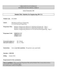 Discrete Random Variable - Statistics for Engineering - Old Exam Paper