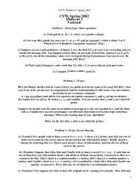 Public Exponent - Discrete Mathematics and Probability Theory - Exams