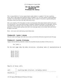 Data Structures - Efficient Algorithms and Intractable Problems - Exams