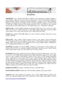 Geografia de Rondônia - Apostilas - Geografia