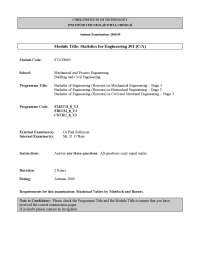 Poisson Distribution - Statistics for Engineering - Old Exam Paper