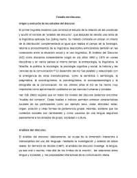 Origen y evolución del discurso - Analisis del discurso critico - Apuntes - Sociología y Linguística