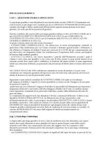 Psicologia Giuridica - Patrizi - Appunti - Psicologia criminale