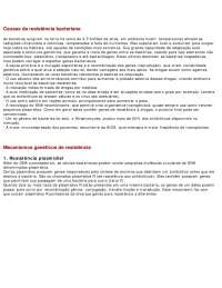 Causas da resistência bacteriana - Apostilas - Farmacologia