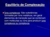 Equilíbrio de complexação - Apostilas - Farmacologia_Parte1