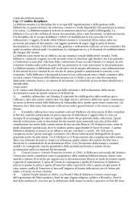 Guida alla biblioteconomia - Guerrini - Appunti - Pedagogia