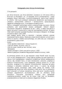 Pedagogika Jana Amosa Komeńskiego - Notatki - Historia wychowania