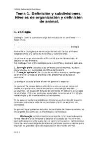 Zoología I