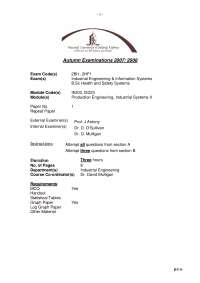 Eutectic Alloys - Production Engineering, Industrial Systems - Past Exam