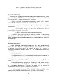 Administración Pública y Derecho - Tema 1 - Apuntes - Derecho Administrativo I