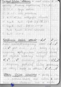 Przestrzeń liniowa, wektory - Ćwiczenia - Algebra liniowa
