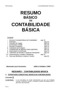 Resumo Contabilidade Básica - Apostilas - Ciências Contábeis
