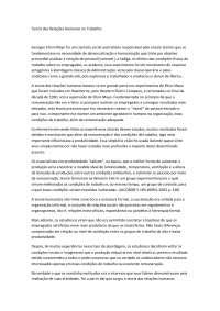 Teoria das Relações Humanas no Trabalho DRI- Apostilas - Comércio