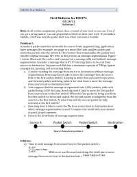 Segmentation - Computer Networks and Internet - Past Exam Paper