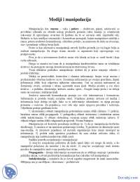 Mediji i manipulacija-Skripta-Sociologija masovnih komunikacija-Zurnalistika