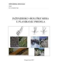 Inženjerske i biološke mere u planiranju predmeta - Skripta- Šumarstvo
