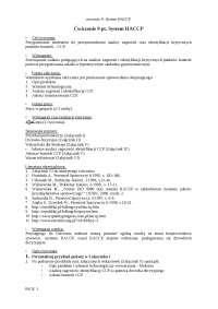 System haccap przykłady i wskazówki - Notatki - Technologia żywności
