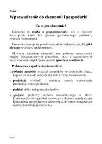 Wprowadzenie do ekonomii i gospodarki - Notatki - Technologia żywności