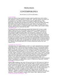 Teologia Contemporânea - Apostilas - Teologia