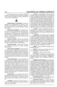 Dicionário de termos jurídicos - Apostilas - Direito