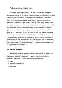 Fazy procesu produkcyjnego na przykładzie - Notatki - Zarządzanie produkcją