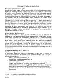 Publiczne prawo konkurencji - Notatki - Administracja