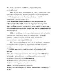 Systemy informatyczne, pytania - Notatki - Systemy i sieci
