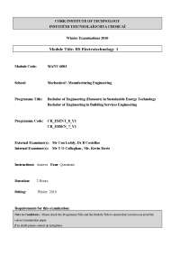 Heating Element - Building Services Processes- Exam