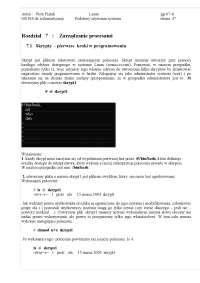 Linux - Notatki - Programowanie - Część 3