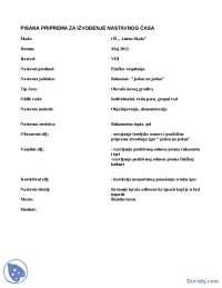 Fizičko 2- Priprema za čas- Metodika veština- FASPER