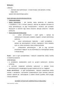 Nauka administracji - Notatki - Administracja