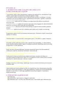 Konstytucyjne zasady organizacji i funkcjonowania sądów - Notatki - Administracja