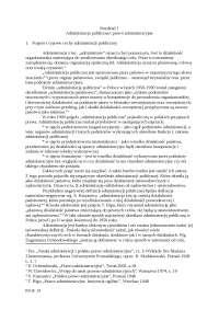 Administracja publiczna - Notatki - Administracja