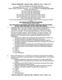 GABA - Physiological Control Systems - Exam