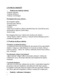Podstawowe funkcje odzieży - Notatki - Materiałoznawstwo