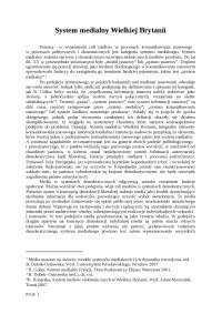 System medialny Wielkiej Brytanii - Notatki - Dziennikarstwo