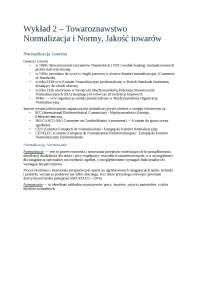 Towaroznawstwo, normalizacja i normy jakość towarów - Notatki - Materiałoznawstwo
