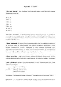 Paradygmat fleksyjny - Notatki - Gramatyka