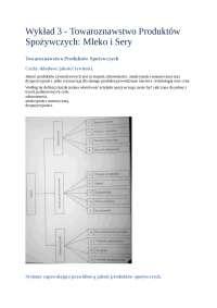 Towaroznawstwo produktów spożywczych mleko i sery - Notatki - Materiałoznawstwo