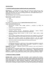 Zagadnienia z socjologii - Notatki - Dziennikarstwo