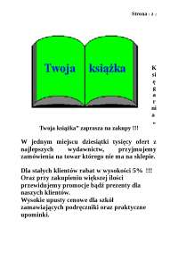 Ulotka księgarnia - Notatki - Reklama