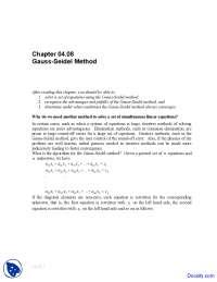 Gauss-Seidel Method - Numerical Analysis - Solved Exam