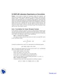 Continuous-Time Systems - Linear Dynamic Systems and Signals - Lab Handout