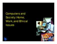 Living with Computers - Computerization and Its Impacts - Lecture Slides