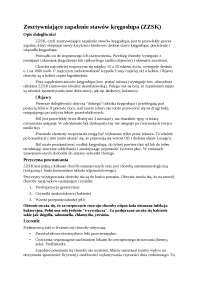 Konspekt zzsk okres ostry i remisji - Notatki - Rehabilitacja