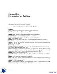 Extrapolation - Numerical Analysis - Solved Exam