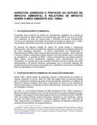 Aspectos Jurídicos do EIA-RIMA, Notas de estudo de Engenharia Ambiental