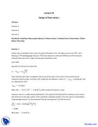 Design of Flow Meters - Fuel, Furnace and Refractory - Solved Assignment