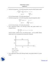 Modified Galerkin Method - Finite Element Analysis - Assignment