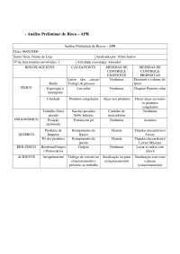 Análise Preliminar de Risco - Apostilas - Análise de Sistemas